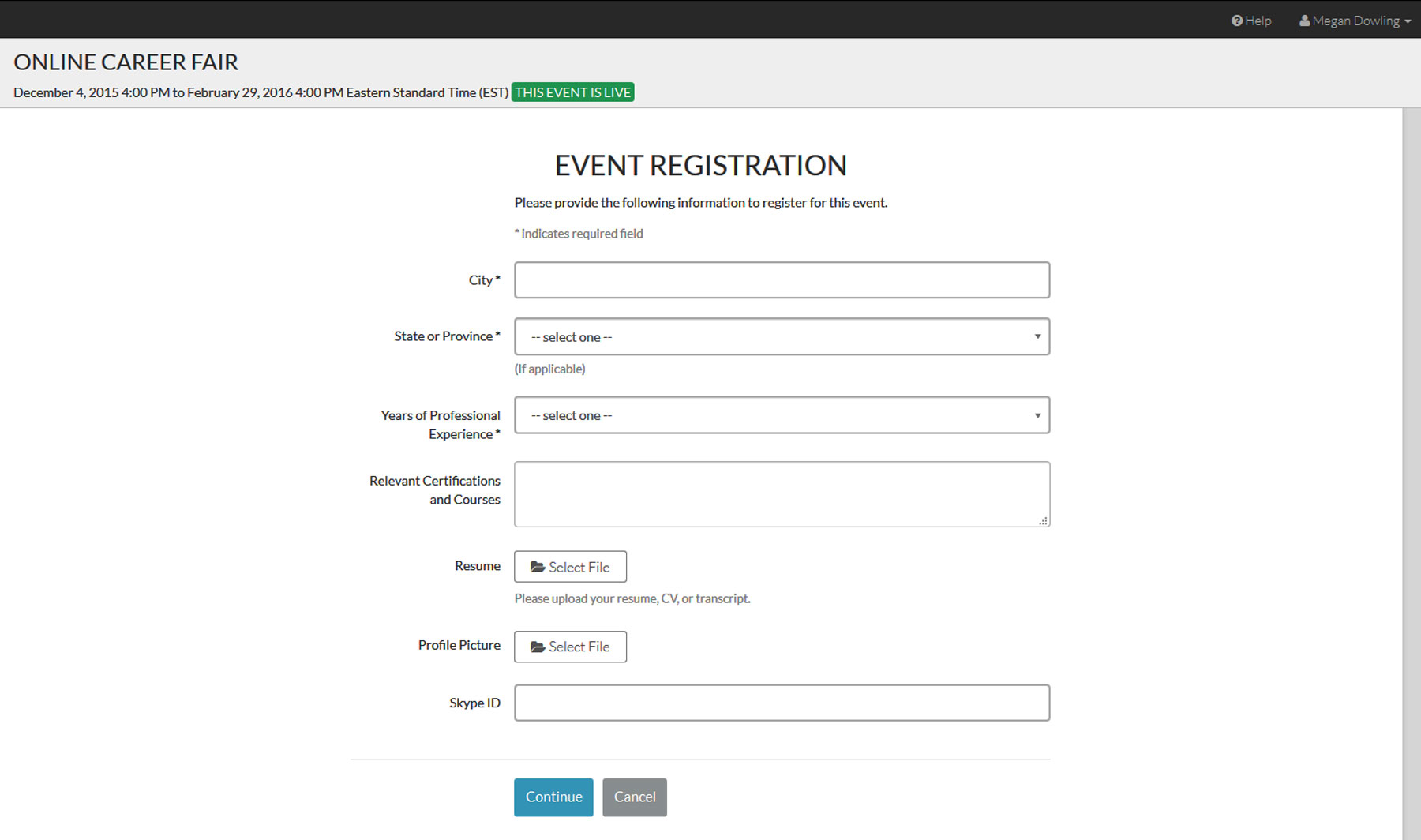 How do i create an account and enter a live event brazen support enter the requested information in the event registration form and click continue when you are done registration forms are always unique to an event and falaconquin