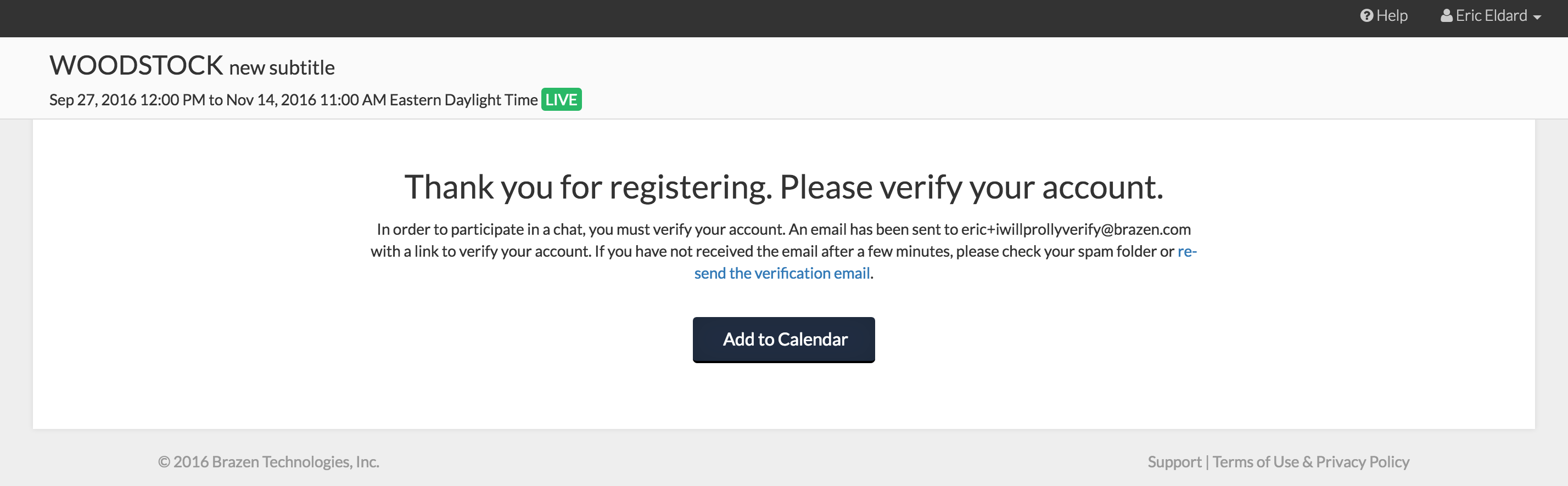 why do i need to verify my email address brazen help center